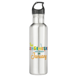 Engineers are born in January Zn619 710 Ml Water Bottle