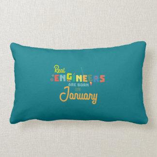 Engineers are born in January Zn619 Lumbar Pillow