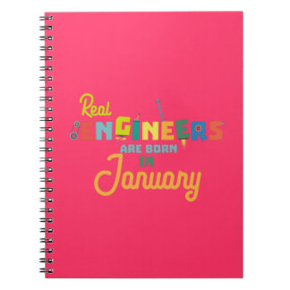 Engineers are born in January Zn619 Notebooks