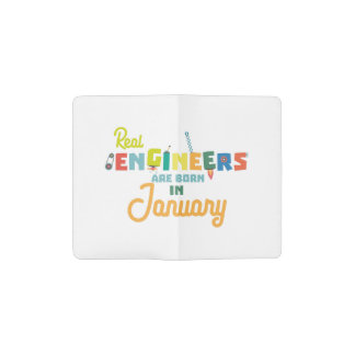 Engineers are born in January Zn619 Pocket Moleskine Notebook