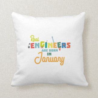 Engineers are born in January Zn619 Throw Pillow