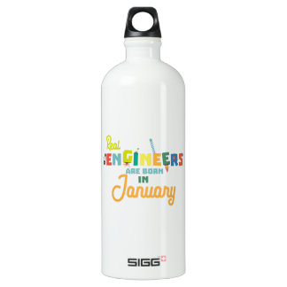 Engineers are born in January Zn619 Water Bottle