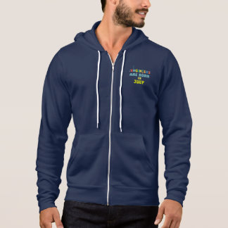 Engineers are born in July Zw3c8 Hoodie