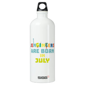 Engineers are born in July Zw3c8 Water Bottle