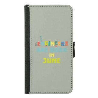 Engineers are born in June Zo3k7 Samsung Galaxy S5 Wallet Case