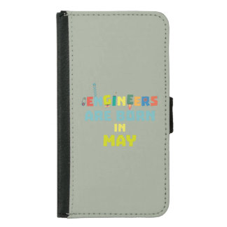 Engineers are born in May Z863d Samsung Galaxy S5 Wallet Case