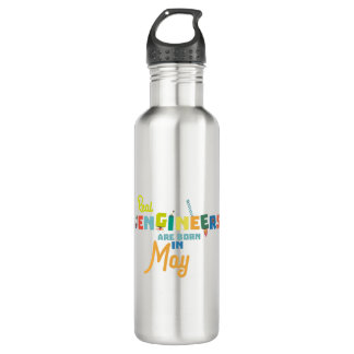 Engineers are born in May Z8wv0 710 Ml Water Bottle