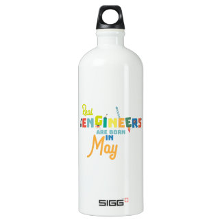Engineers are born in May Z8wv0 Water Bottle