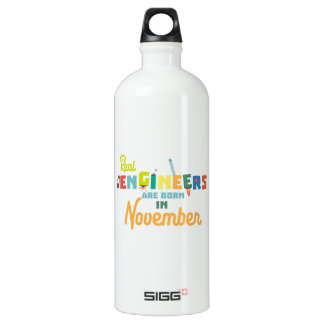 Engineers are born in November Z9g4h Water Bottle