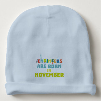 Engineers are born in November Za7ra Baby Beanie