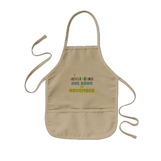 Engineers are born in November Za7ra Kids Apron