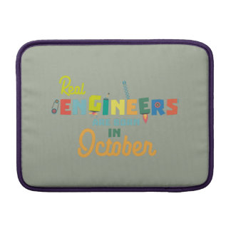 Engineers are born in October Zs52p MacBook Air Sleeve