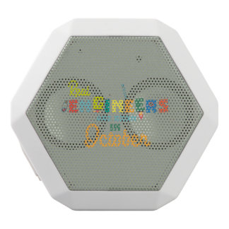 Engineers are born in October Zs52p White Bluetooth Speaker