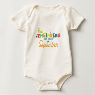 Engineers are born in September Zt500 Baby Bodysuit