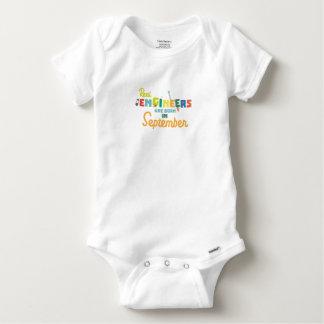 Engineers are born in September Zt500 Baby Onesie