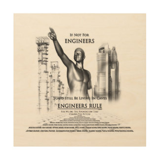 Engineers Rule Canvas Wood Print