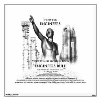 Engineers Rule Walls360 Decal