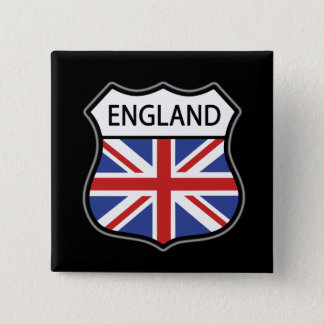 England 2 Inch Square Button