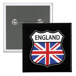 England 2 Inch Square Button