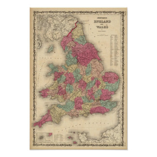 England and Wales 4 Poster