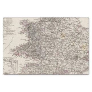 England Atlas Map Tissue Paper