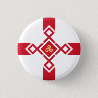 England Badge - Anglo-Celtic Cross 1 Inch Round Button