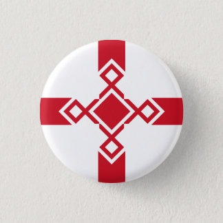 England Badge - Anglo-Saxon Rune Cross 1 Inch Round Button