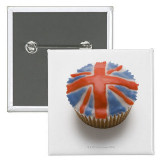 England, Britain, english, union jack, fairy 2 Inch Square Button