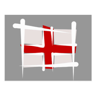 England Brush Flag Postcard