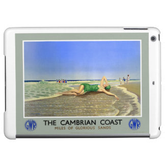 England Cambrian Coast Vintage Travel Poster iPad Air Case