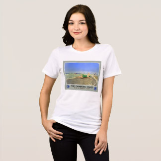 England Cambrian Coast Vintage Travel Poster T-Shirt