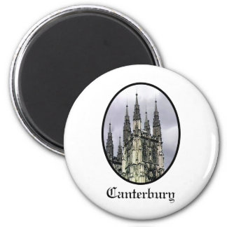 England Canterbury Church Spirals Black jGibney 2 Inch Round Magnet