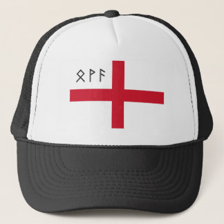 England Cap - Flag with Anglo-Saxon Runes