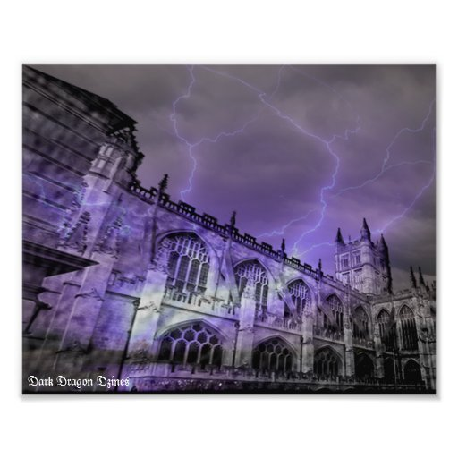 England Castle Storm 10x8 Photographic Print