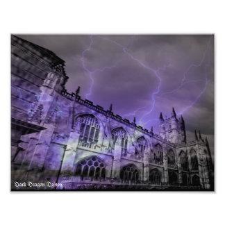 England Castle Storm 11x8.5 Photographic Print