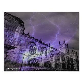 England Castle Storm 14x11 Photographic print
