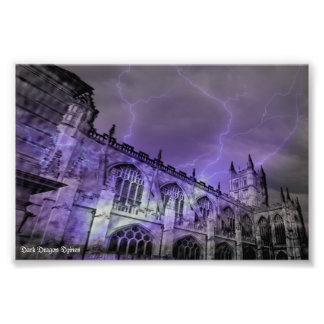 England Castle Storm 6x4 Photographic Print