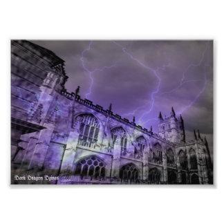 England Castle Storm 7x5 Photographic Print