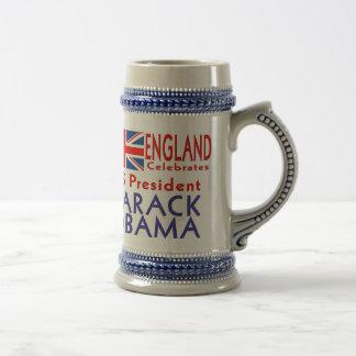 ENGLAND Celebrates US President Obama Souvenir Beer Stein