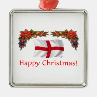 England Christmas Metal Ornament