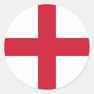 england classic round sticker