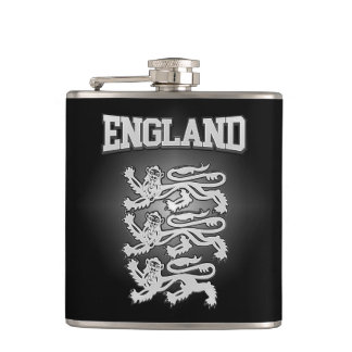 England Coat of Arms Hip Flask