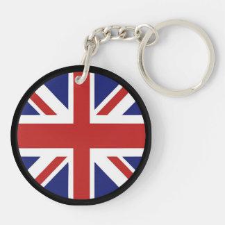 england Double-Sided round acrylic keychain