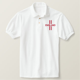England Embroidered Polo Shirt Front & Back