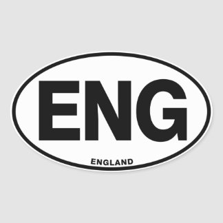England ENG Oval International Identity Letters Oval Sticker