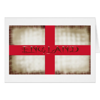 England English Grunge Flag Saint George Cross Card
