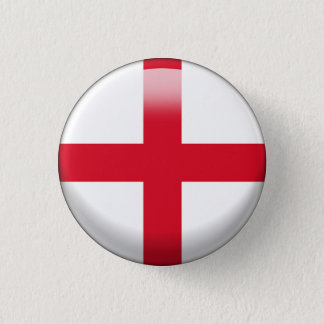 England Flag 1 Inch Round Button