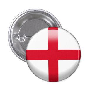 England Flag 1 Inch Round Button