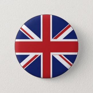England Flag 2 Inch Round Button