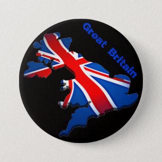 england flag 3 inch round button